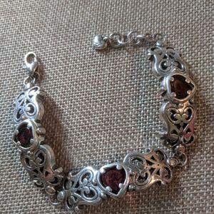 Brighton silver and garnet bracelet